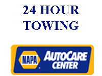 NAPA and 24 hour towing